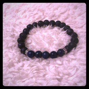 Jewelry - Handcrafted Black & Blue Diffuser Bracelet